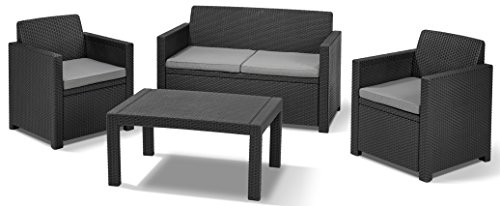 Allibert Lounge-Set Merano 4tlg, graphit/cool grey