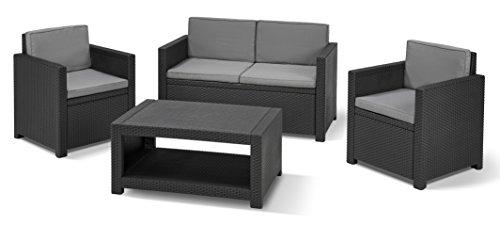 Allibert Lounge-Set Monaco 4tlg, graphit/cool grey