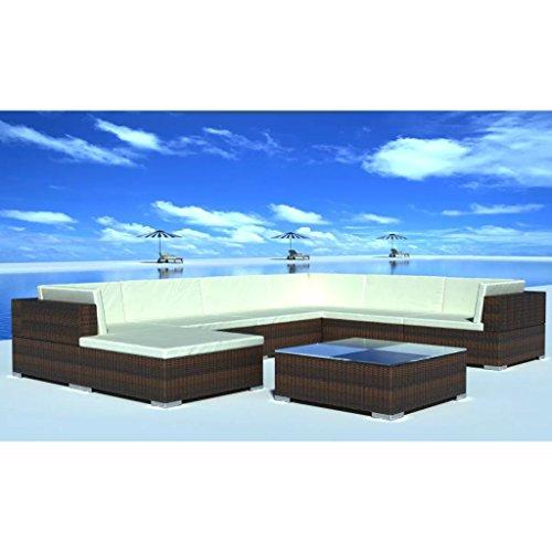 Anself Rattan Lounge Set Loungemöbel Loungeset Loungegruppe 24-teilig 2 Farbe Optional