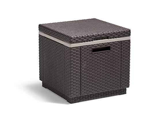 Allibert Beistelltisch/Kühlbox Ice Cube 40 Liter, braun