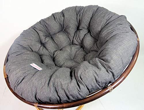 Rattani – Polster, Kissen, Auflage, Ersatzpolster für Rattan Papasansessel, Stoff Nuevo Loneta, D 130 cm, Made in EU