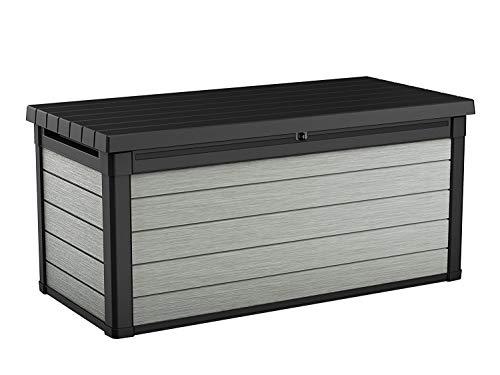 Koll Living Aufbewahrungsbox Maxi – hochwertige Gartenbox mit Gasdruckfedern – viel trockener Stauraum für Sitzauflagen oder Gartengeräte – 100% wasserdicht – mit Belüftungssystem (Maxi 570 Liter)