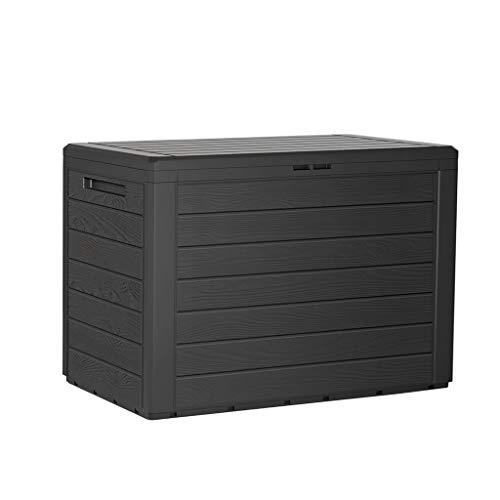 Kreher Kompakte Kissenbox/Aufbewahrungsbox in Anthrazit mit 190 Liter Volumen. Robust, abwaschbar und einfach im Aufbau!