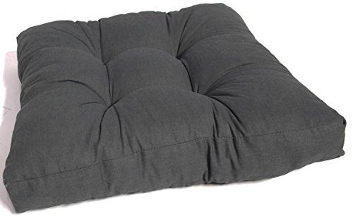 Beo Lounge Sitzkissen 80 x 80 cm für Rattan Gartenmöbel in der Farbe anthrazit