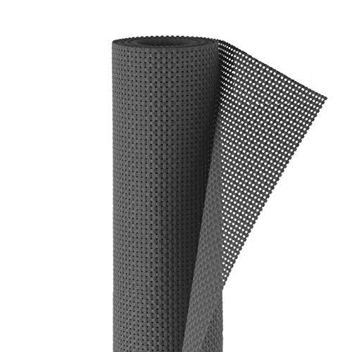 Hoberg Polyrattan Sicht- und Windschutz   Blickdicht, Individuell anpassbar, Leichte Reinigung   Inkl. 50 Kabelbindern   90 x 500 cm, 650 g/m² [Anthrazit]