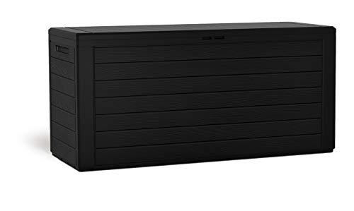 Kreher Kompakte Kissenbox/Aufbewahrungsbox in Anthrazit mit 280 Liter Nutzvolumen. Robust, abwaschbar und einfach im Aufbau!